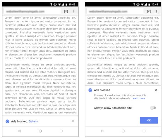 Google Non-Compliant Page