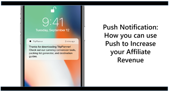 Push Notification: How you can use Push to Increase your Affiliate Revenue